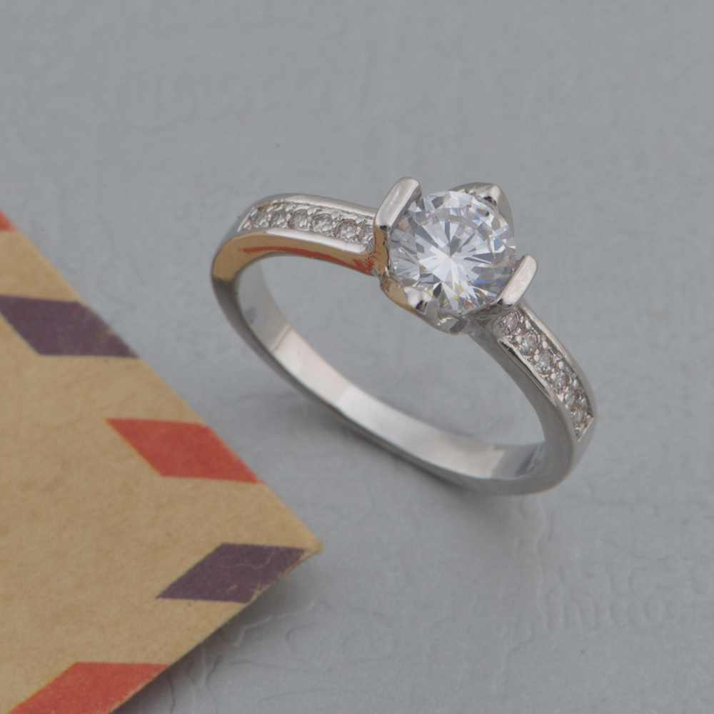 7bbd06909a ... New Couple 925 Ring Vashiria Fashion Nice Plated Gold Jewelry 925  Romantic Imperial Crown CZ Nice