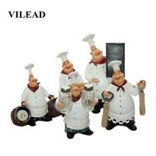 цена VILEAD 23cm 21cm 27cm Resin Chef Function Figurines Bottle Opener Message Board Salt And Pepper Can Creative Bar Home Ornament онлайн в 2017 году