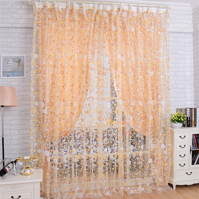 Popular yellow floral curtains buy cheap yellow floral curtains ...
