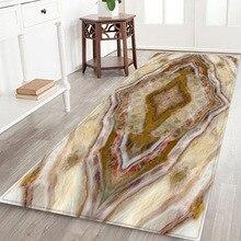 3D simulation mat Marble pattern floor customize Bedside carpet Non-slip crawling Living room bedroom