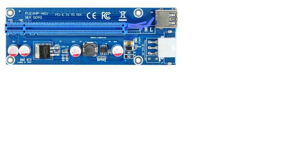 Высокое качество Ver 009 S pci-e 1x к 16x Лер Riser Card Extender PCI Express адаптер USB 3.0 кабель Питание для btc
