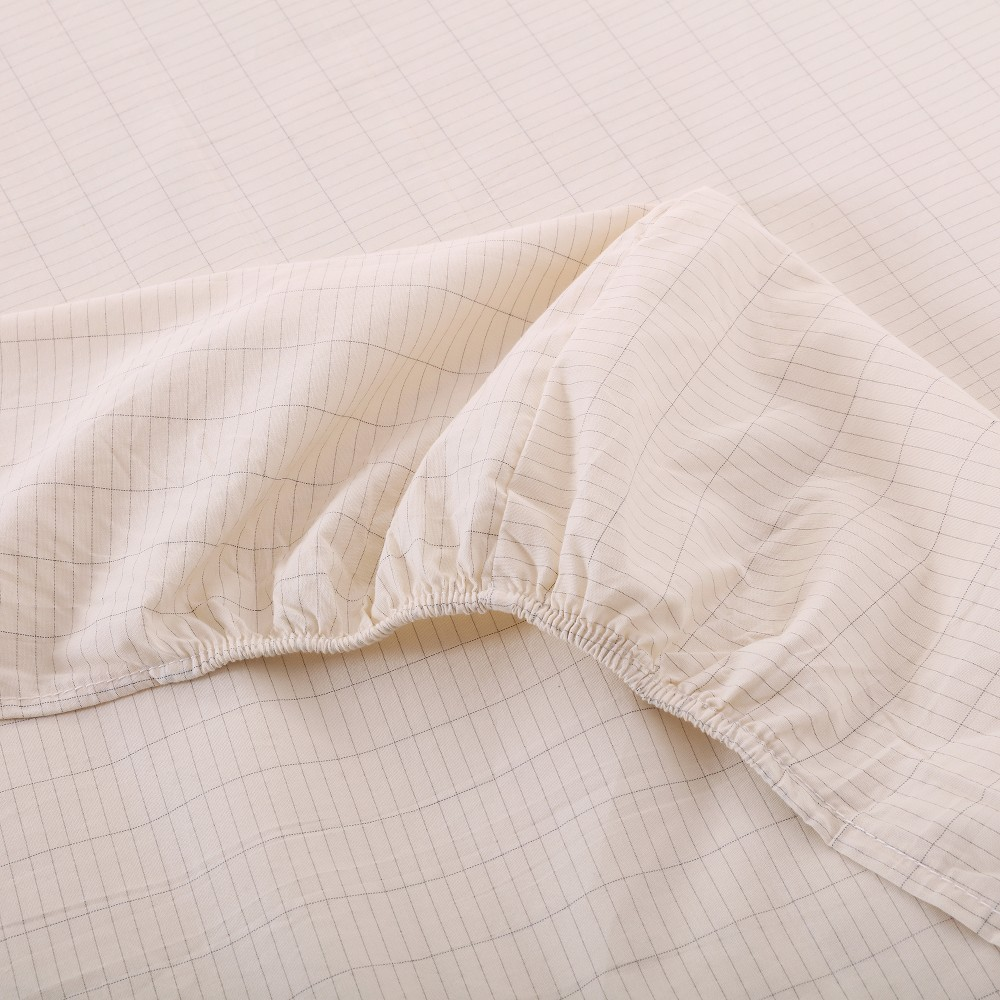 Mise à la terre drap housse en Coton $ Argent tissu feuille Conductrice protection D'EMF de Santé Jumeaux taille (99*203 cm)