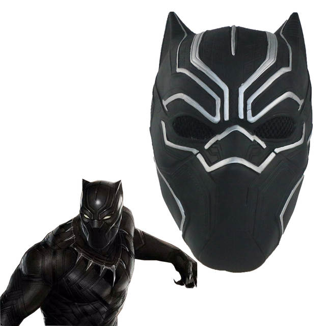 2b446330 Black Panther Cosplay Costume Jumpsuit With Masks Adult Child Kids  Halloween Superhero Party Plus Size Bodysuit