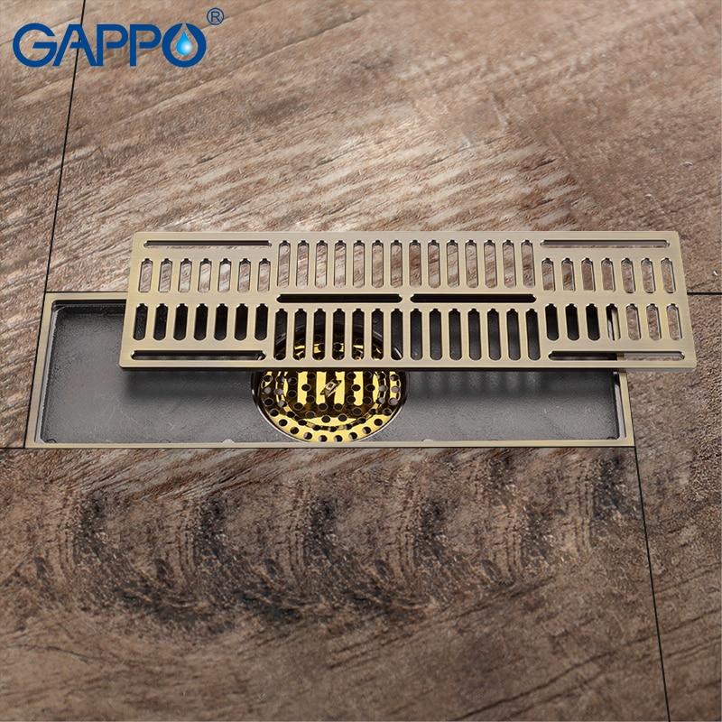 Gappo Drains Anti Odor Shower Floor Drains Antique Brass