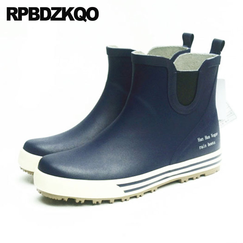 Winter Blue Booties Shoes Mens Rubber Rain Boots Thick Soled Cheap Chelsea Ankle Sneakers Faux Fur Trainer Rainboots High TopWinter Blue Booties Shoes Mens Rubber Rain Boots Thick Soled Cheap Chelsea Ankle Sneakers Faux Fur Trainer Rainboots High Top