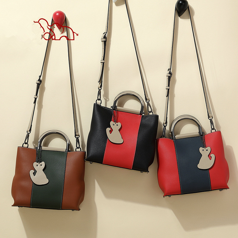 Cute Tote Bag With One Shoulder Crossbody Bag/Leather Handbag For Women