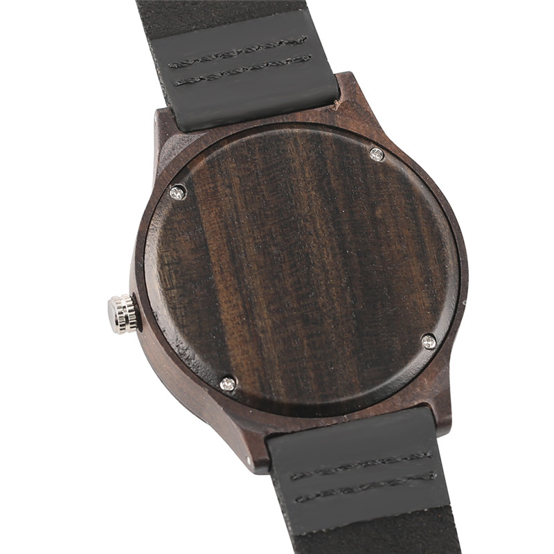 Casual Men Women Wooden Watch Novel Vortex Non-pointer Sport Bamboo Wristwatch Geek Concept Young People Wood Clock Cool Gifts (5)