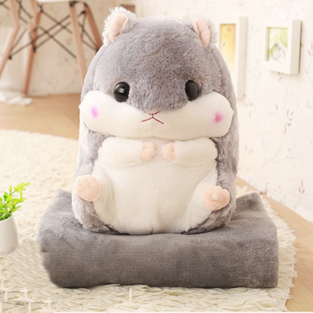 30x50CM Hamster Mouse Pet Pillow Plush Doll Toys With Blanket Cute Stuffed Animal Dolls Flannel Cushion For Chhildren Baby Gift