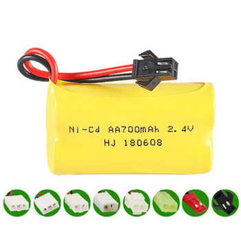 1pcs 2.4V 700MA NI-CD rechargeable battery pack AA rechargeable battery image