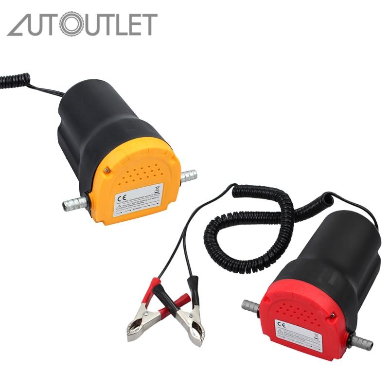 AUTOUTLET 12 V 60 W Huile Diesel Extractor Pompe D'aspiration Transfert de Changement de Liquide Pour Voiture Bateau Moto Huile De Transfert De Fluide pompe