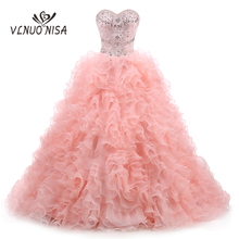 VLNUO NISA Custom Made Chapel Train Evening Dress Ball Gown