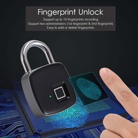 USB Rechargeable Smart Keyless Kunci Sidik Jari IP65 Tahan Air Anti-Theft Keamanan Gembok Pintu Bagasi Case Lock