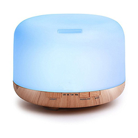 500ML Ultrasonic Air Humidifier Aroma Diffuser Wood Oil Essential With LED Lights For Home Air Aroma