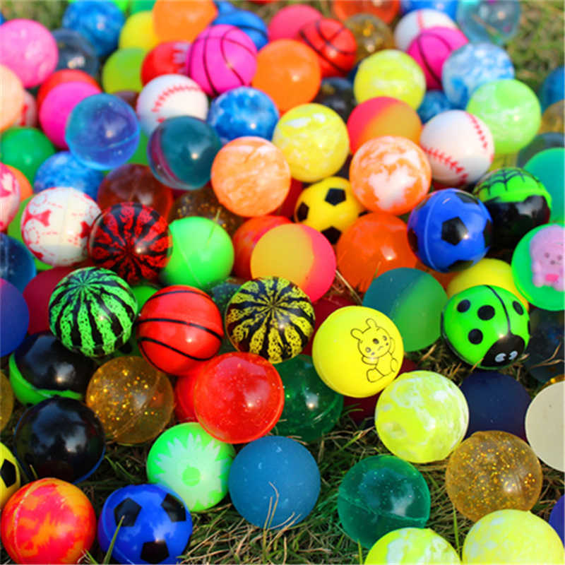 Kids Magic Bouncy Springen Ballen gemengde Bouncybal Effen drijvende stuiteren kind elastische rubberen bal van pinball bouncy speelgoed