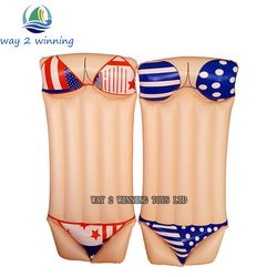 2018 New Sexy Bikini Inflatable Swimming Pool Float Adult Water Floating Island Swim Board Air Mattress Fun Toys Hot Sell