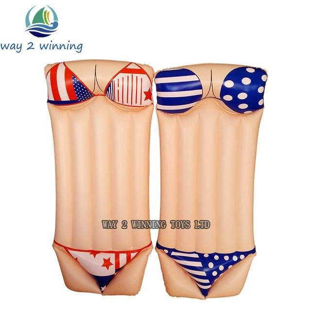0fb9057a5e 2018 New Sexy Bikini Inflatable Swimming Pool Float Adult Water Floating  Island Swim Board Air Mattress