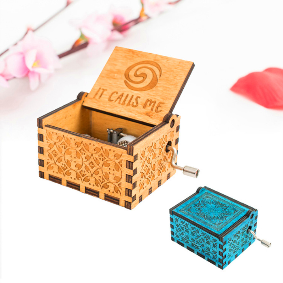 NEW Creative Birthday Christmas Gift Toys for Children Play IT CALLS ME Carved Wooden Hand Crank Music Box Movie Moana Theme NEW Creative Birthday Christmas Gift Toys for Children Play IT CALLS ME Carved Wooden Hand Crank Music Box Movie Moana Theme
