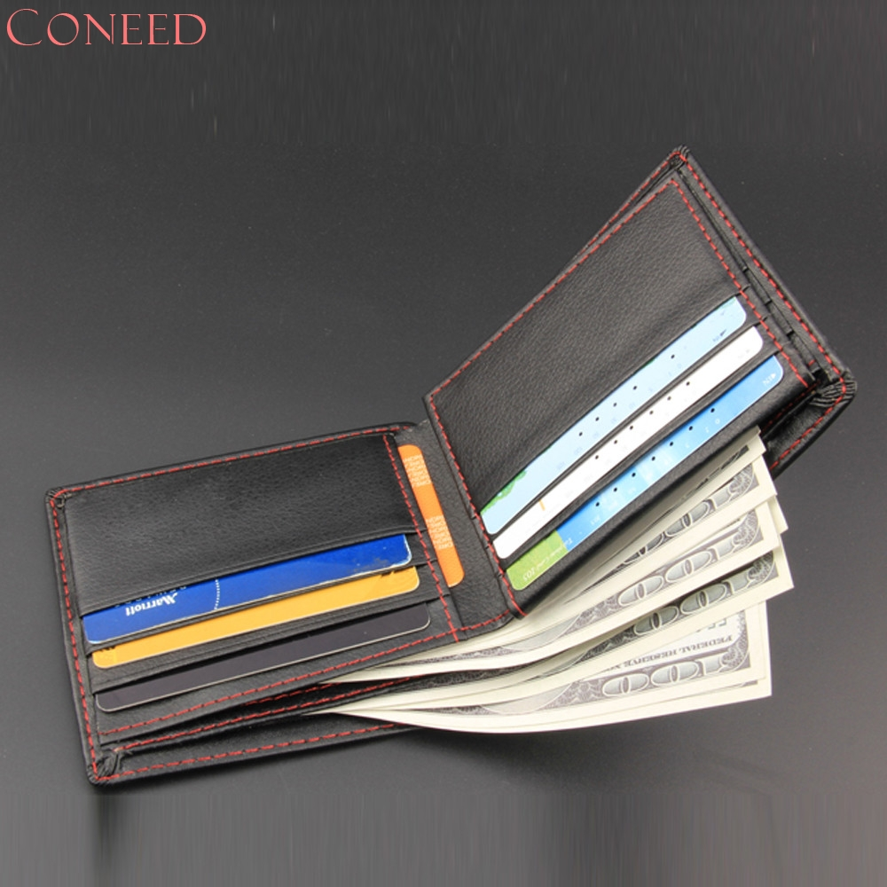 Drop Ship CONEED Men Bifold Business Leather Wallet  ID Credit Card Holder Purse Pockets Juy14