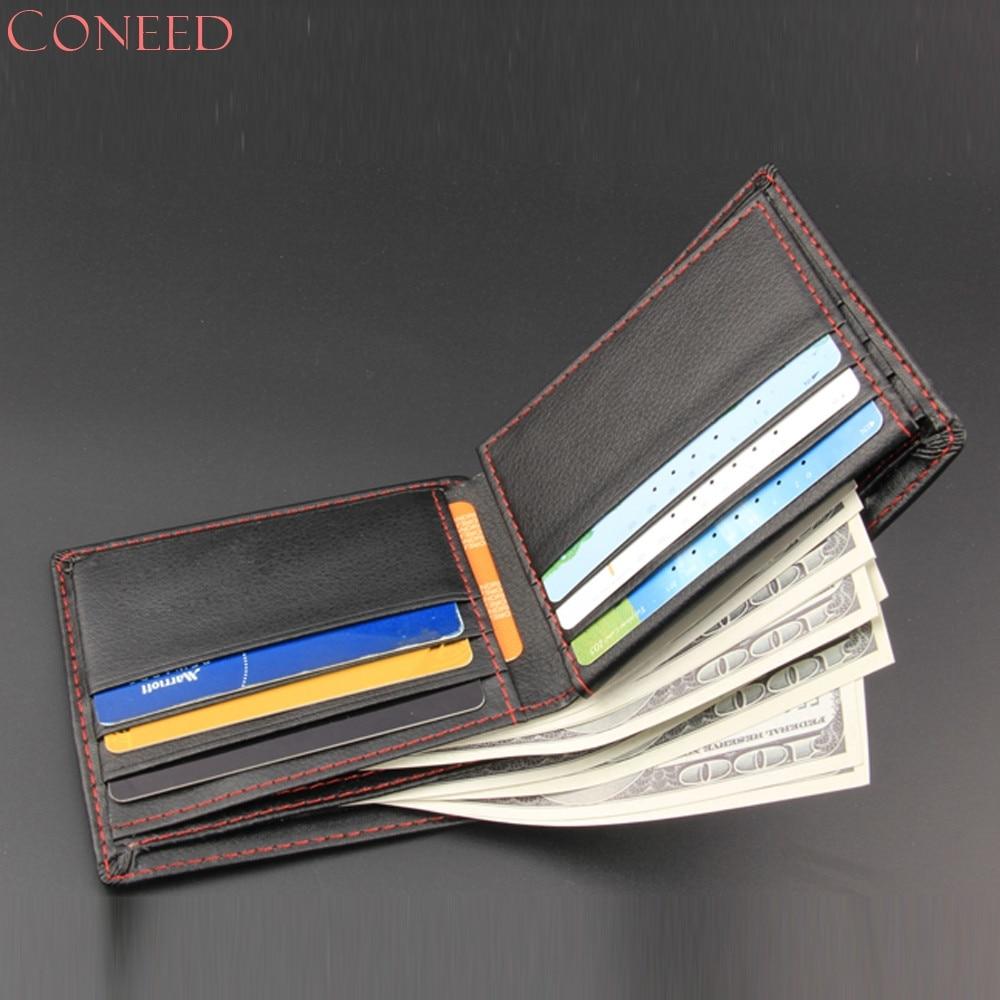 Drop Ship CONEED Men Bifold Business Leather Wallet  ID Credit Card Holder Purse Pockets Juy14 stick n click для девочек наша сладость