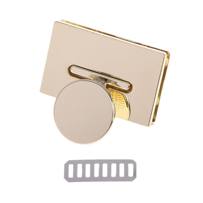 Hot New 1 Pc Vintage Fashion Rectangle Clasp Turn Lock Twist Locks Metal Hardware For DIY Handbag Bag Purse Accessories