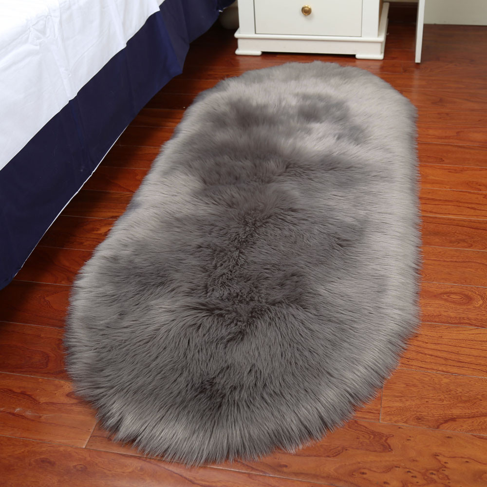 Soft Rug Chair Cover Artificial Fur Bedroom Carpets Sheepskin Wool Warm Hairy Carpet Seat Mats Rug Alfombra Dormitorio