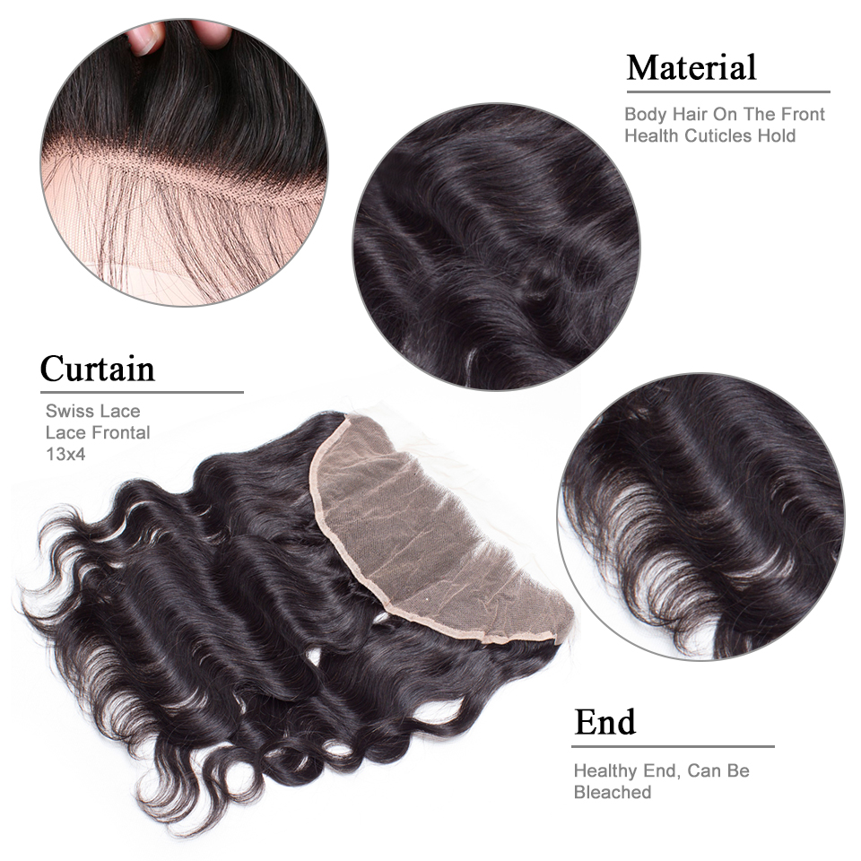 Styleicon Peruvian Lace Frontal Closure Body Wave 13x4 Free Part Remy Hair Frontal Bleached Knot Pre Plucked With Baby Hair