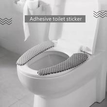 북유럽 겨울 두꺼운 변기 커버 소프트 워셔블 화장실 뚜껑 커버 유니버설 Closestool 매트 시트 케이스 욕실 액세서리