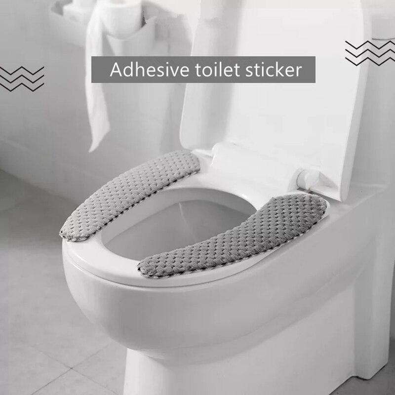Nordic ฤดูหนาวหนาที่นั่งครอบคลุมนุ่ม WC ห้องน้ำ Universal Closestool MAT ที่นั่งอุปกรณ์เสริมอุปกรณ์เสริม