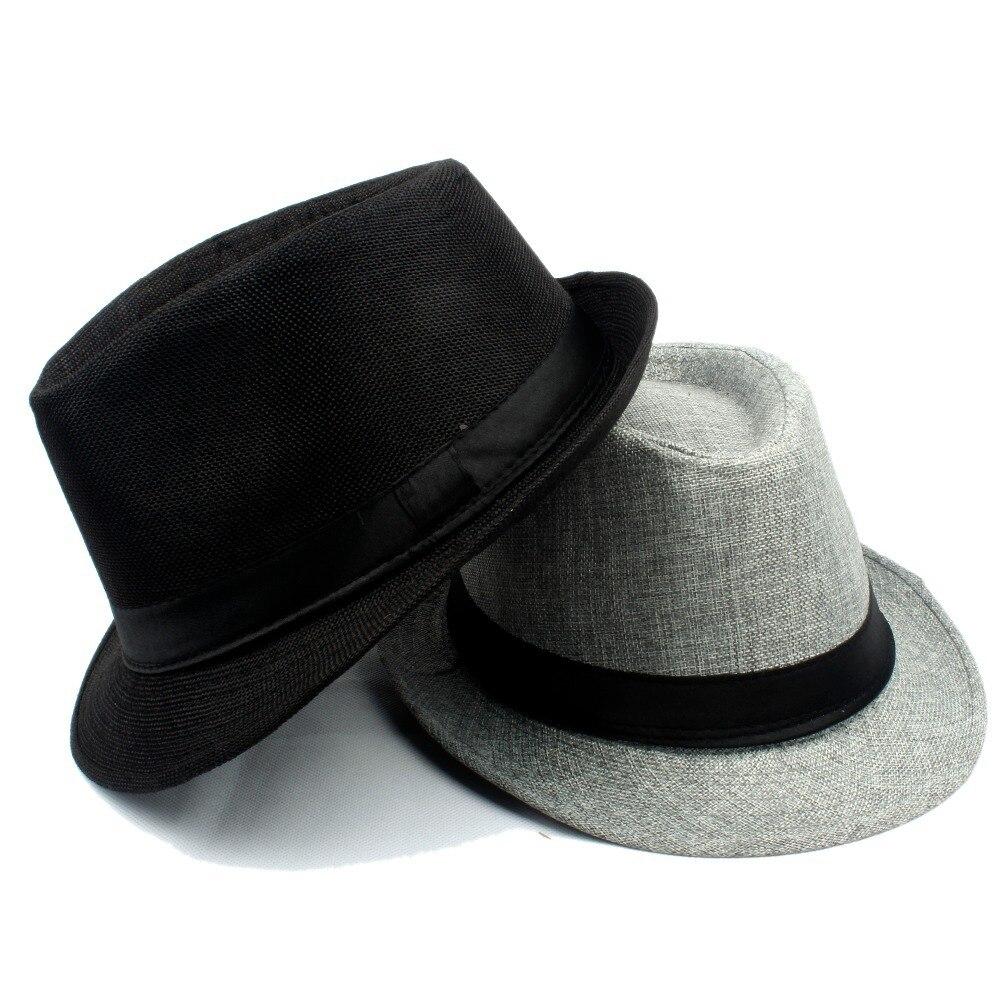 706d7c37f Unisex Women men Striped Topper Fedora hat Trilby Gangster Cap ...