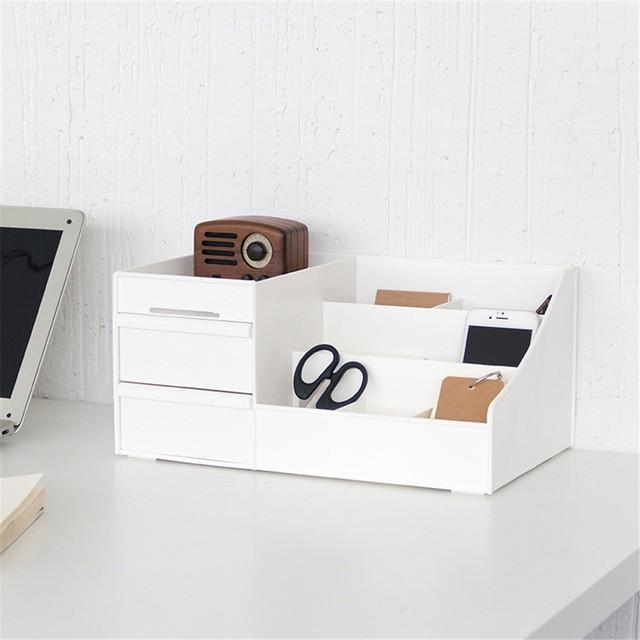 Minimalist Plastic Storage Drawer New White Desk Box Organizer Sundries Cosmetics Container For Home