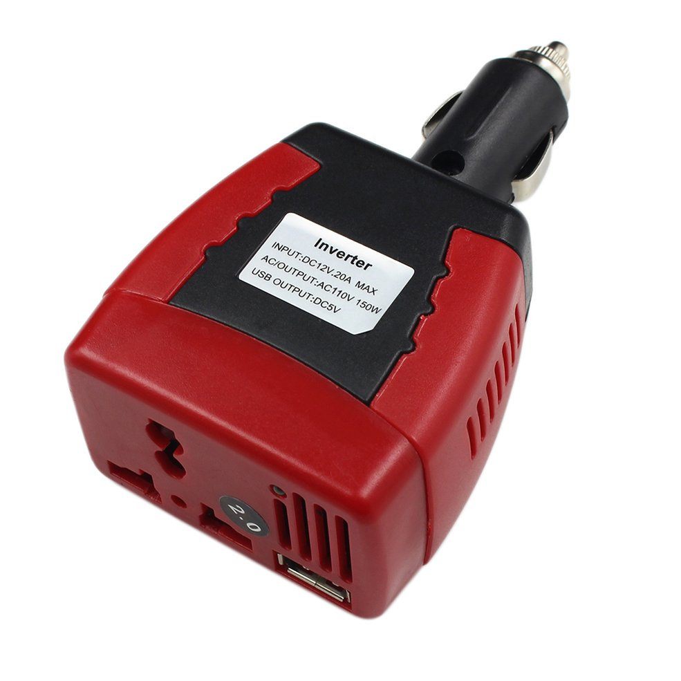 Professional Cigarette Lighter Power Supply 150W 12V DC To 110V AC Car Power Inverter Adapter With USB Charger
