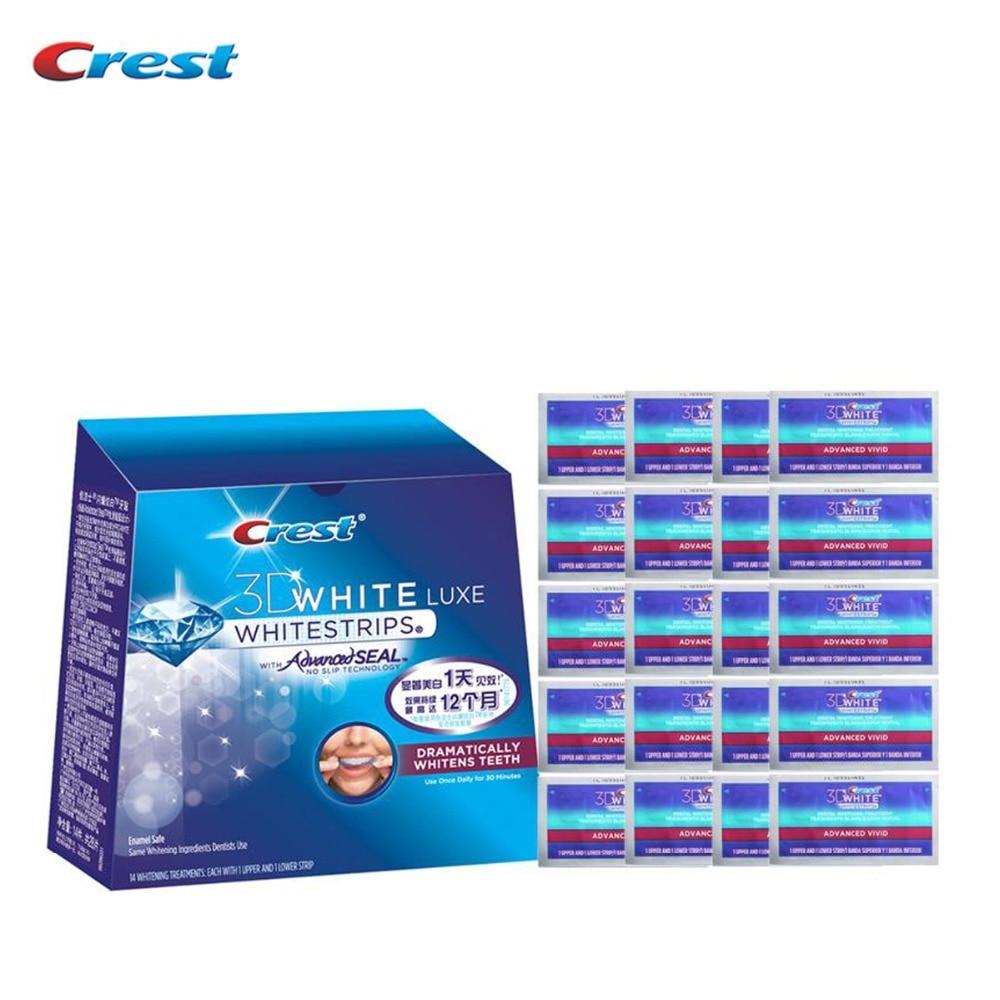 все цены на No Box 20 Pouches/40 Strips Crest Advanced Vivid Teeth Whitening Whitestrips 20 Days Oral Hygiene Dental White Teeth онлайн