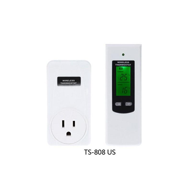 Hot Sale TS-808 Wireless RF Temperature Control Controller Thermostat Socket+LCD Remote ( US Plug,UK Plug,EU Plug)