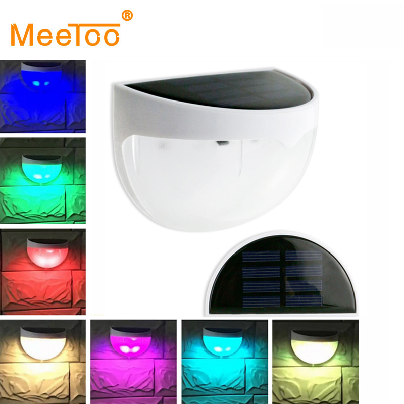 New Outdoor Garden 8 Led Solar Shed Eaves Work Light Lamp: MeeToo LED Outdoor Solar Powered Panel Garden Path Wall