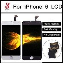 10 unids/lote aaa no pixel muerto para iphone 6 ecran lcd pantalla táctil digitalizador asamblea reemplazo 4.7 pantalla libre shipp