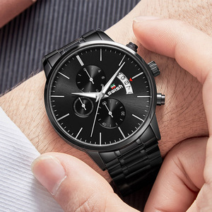 Image 5 - SAUSEN Uhr Männer 2020 Wasserdichte Edelstahl Mode Sport Quarzuhr Uhr männer Uhren Top marke Luxus Mann Armbanduhr