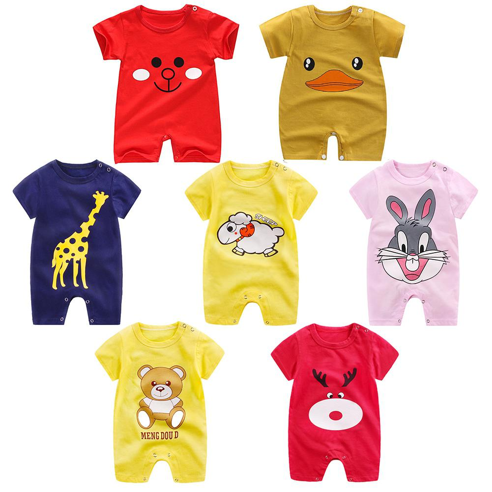 0-12M Age New Born Baby Girl Boy Clothes   Romper   Cotton Toddlers Infant Unisex Short Sleeve Playsuit Jumpsuit for Newborns
