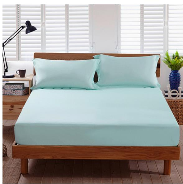 pure color the fitted sheet bedspread cotton cotton bed sheets simmons mattress cover 1 8 m bed. Black Bedroom Furniture Sets. Home Design Ideas