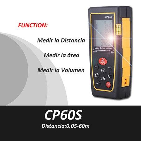Trena metro laser, cinta metrica, medidor de distancia laser, 0.05-60m, misuratore laser, laser de mesure, laser head owx8060 owy8075 onp8170