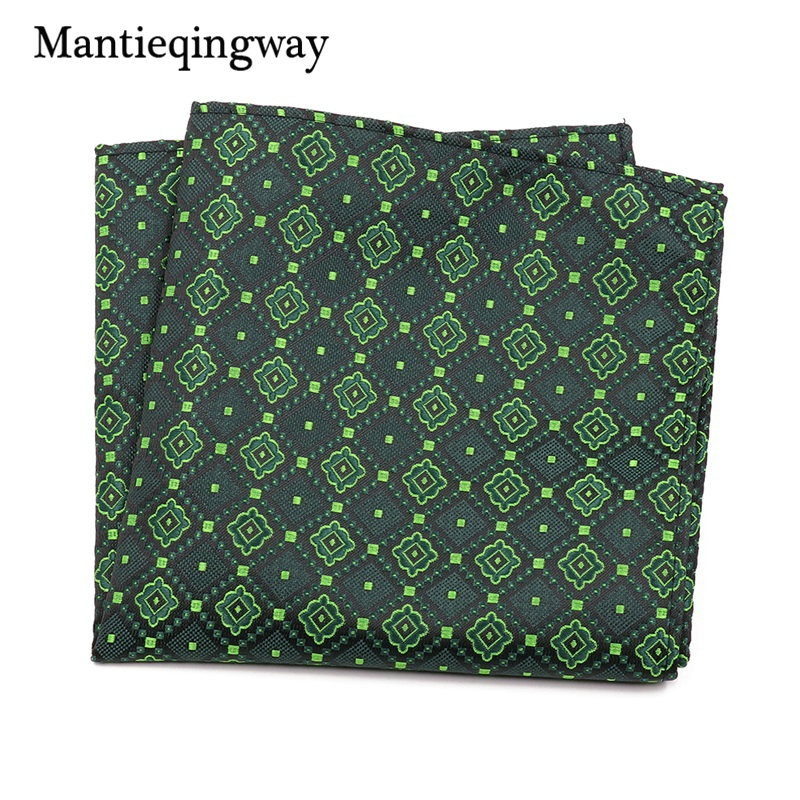 Mantieqingway Paisley Floral Men's Handkerchief Pocket Square For Wedding Suits Chest Towel Tuxedo Hanky Polyester Hankies