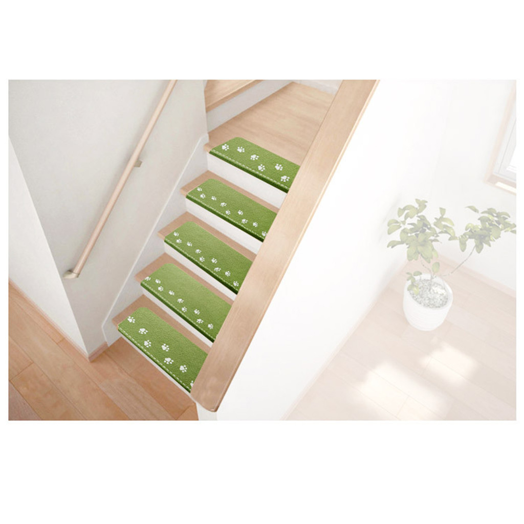 8Pcs Self-adhesive Stair Carpet Mat Step Staircase Non Slip Cover Pad Luminous Stair Mats Home Decorative felpudo deurmat