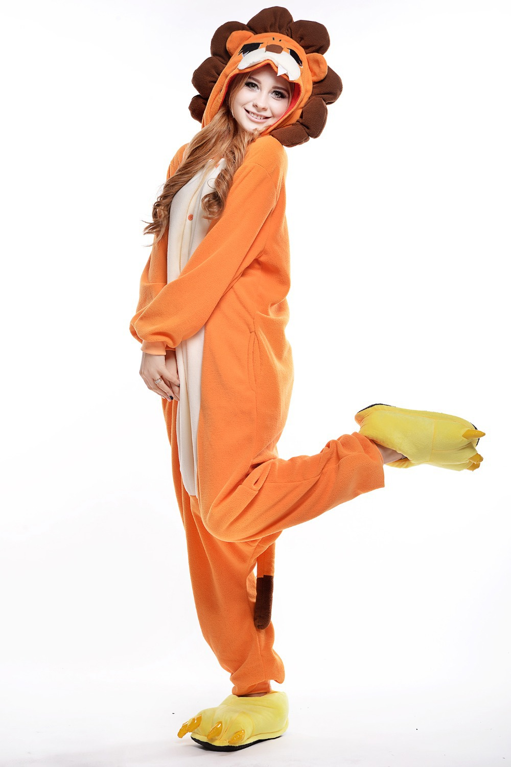 Lion Costume/ Plus Size Halloween Costume for Women/ Mens Onesie/ Fancy Anime Cosplay/ Adult Animal Footed Pajamas-in Mascot from Novelty u0026 Special Use on ...  sc 1 st  AliExpress.com & Lion Costume/ Plus Size Halloween Costume for Women/ Mens Onesie ...