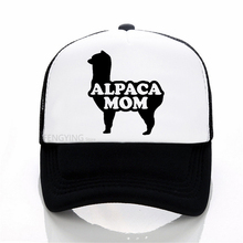Alpaca Mom Letters Print baseball cap Casual Cotton Hipster Funny mesh hat Unisex Adjustable trucker