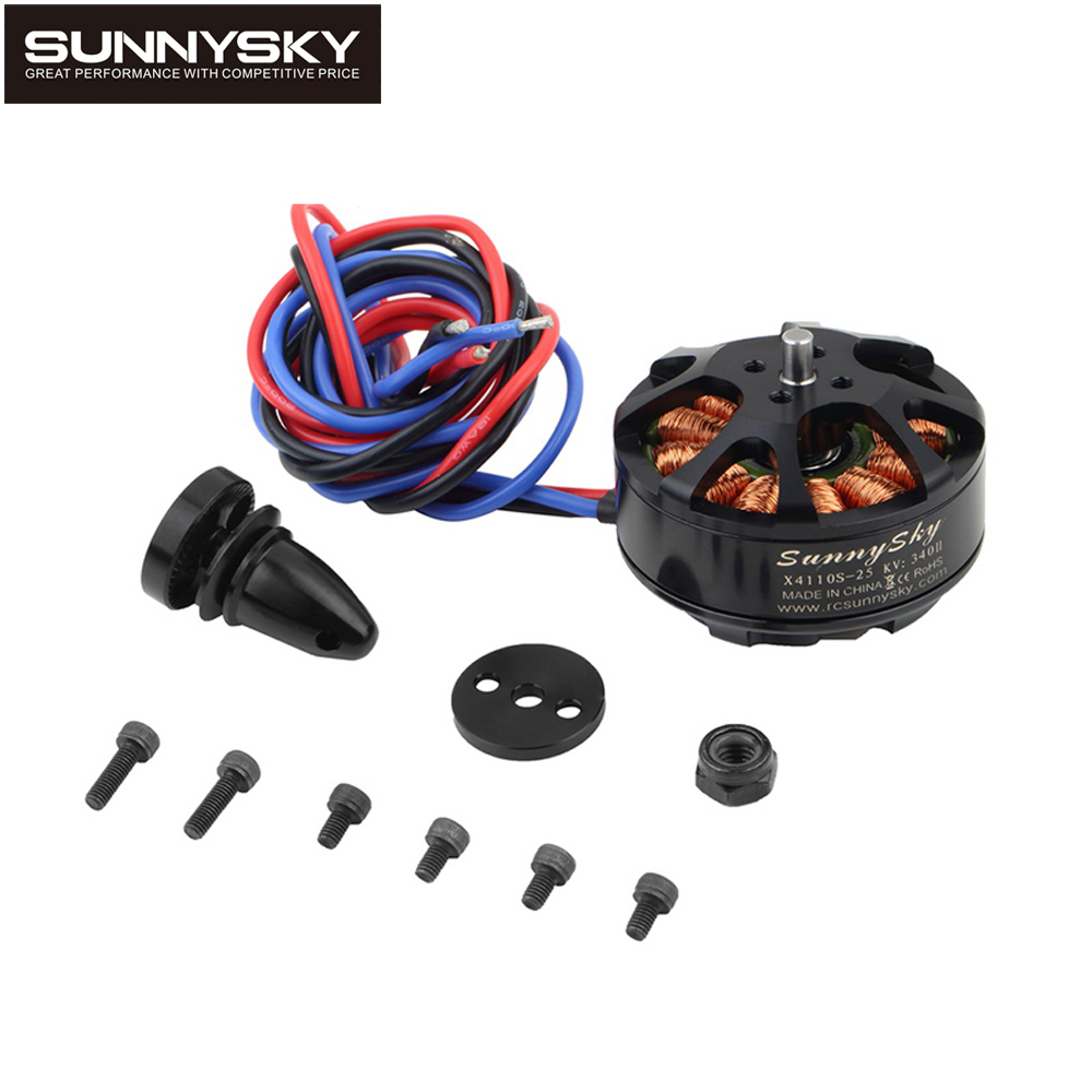 1pcs Original Sunnysky X4110S 340KV 400KV 460KV 580KV 680KV 4S-6S Brushless Motor for Multicopter Quadcopter RC Airplane free shipping original sunnysky v3508 380kv 580kv 700kv 4s 6s brushless motor for multicopter quadcopter rc airplane