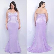 PX44 Lila A Line Plus Size Prom Kleider Gerade Sweetheart perlen Abendkleid Sleeveless Weg Von Der Schulter Lange Abendkleid