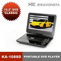 Leadstar,10.2'' portable 3D DVD player(16:9) with 3D glasses with USB/SD/MMC/MS/AV input and output function KA-1088D