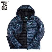 TIGER FORCE 2017 Marque Hommes De Mode Coton Rembourré Veste D'hiver Automne Polyester Manteau Camouflage Taille Européenne Livraison Gratuite