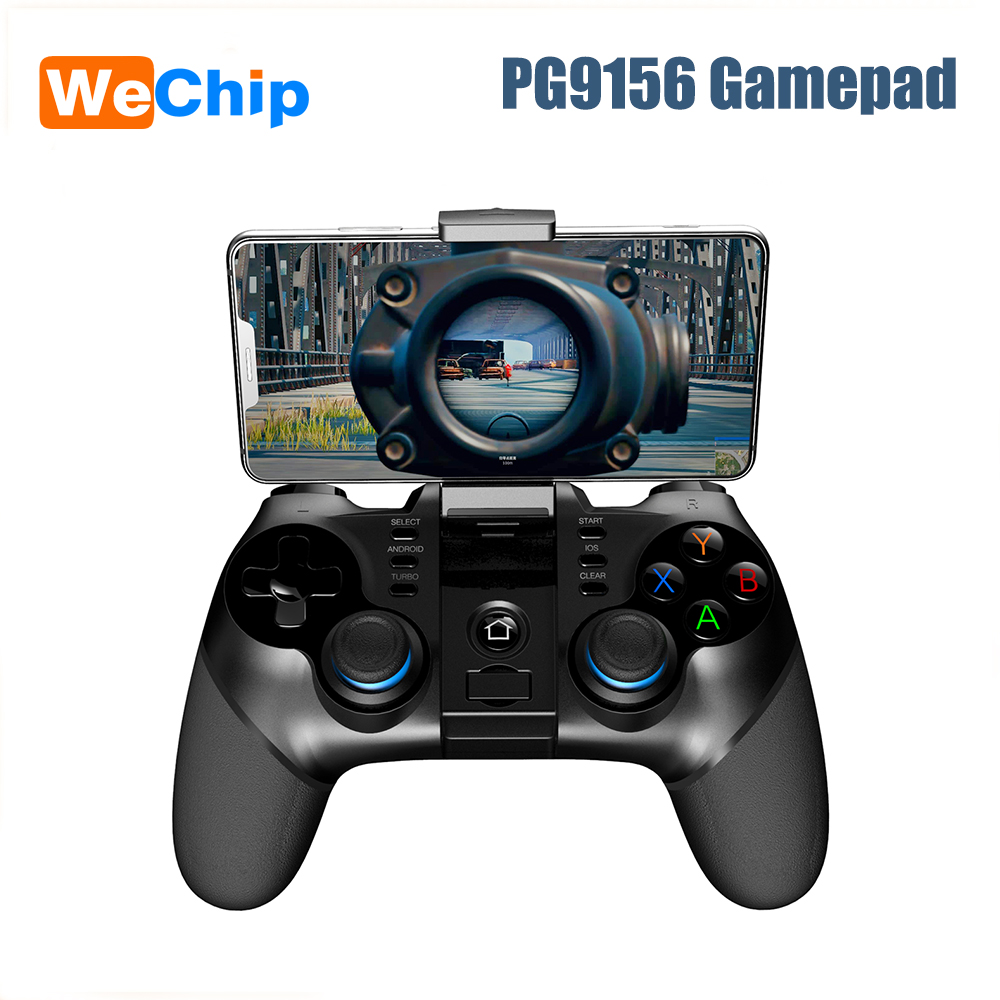 Wechip PG9156 2.4G Wireless Gamepad Android Cell Phone PC Hand Free Firr for PUBG Receiver Game Controller Joystick image