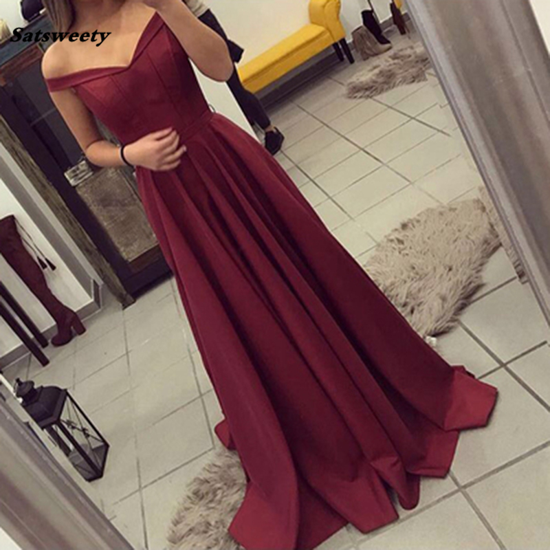 2019 Long V Neck Lace Long Sleeves Satin Elegant Formal Party Gowns Sexy Side Split Bridesmaid Dresses Robe De Soiree