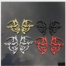 2PC Auto Styling 4 Farben Chrome Metall Für 3D Hellcat Aufkleber Emblem Hinten Abzeichen Aufkleber dodge challenger Ladegerät Ram chrysler Boot